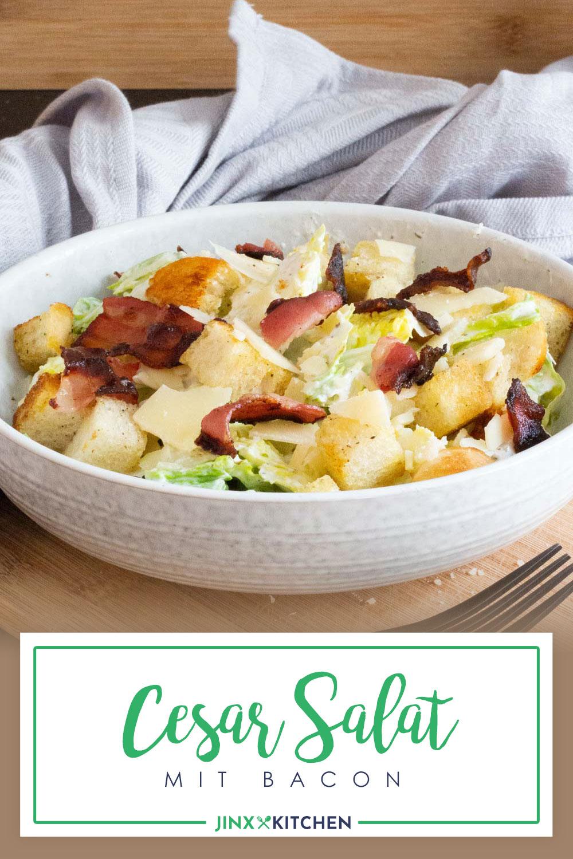 Cesar Salat mit Bacon und Sumach-Dressing Pinterest Bild