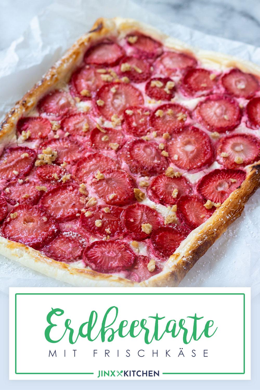 Pinterest Erdbeertarte mit Frischkäse