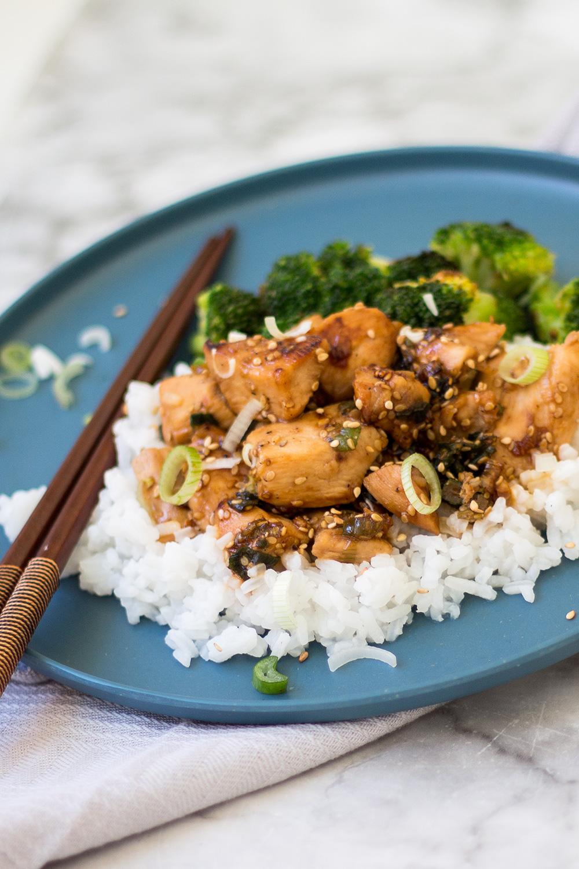 Chicken Teriyaki mit Reis Rezept