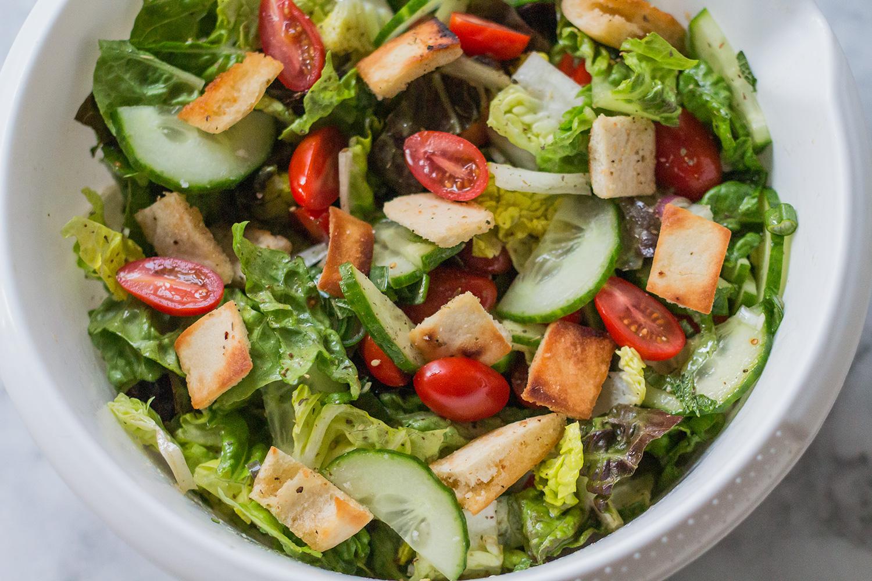 Fattoush Salat Libanon Sumach Vinaigrette