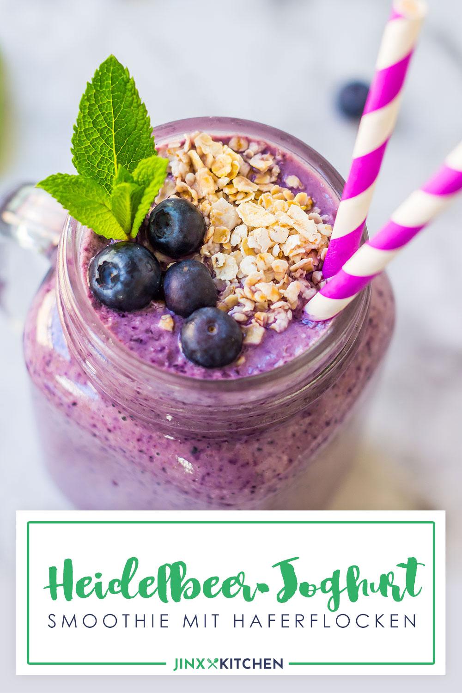 Heidelbeer-Joghurt-Smoothie Pinterest