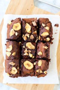 Bananen Brownies Draufsicht