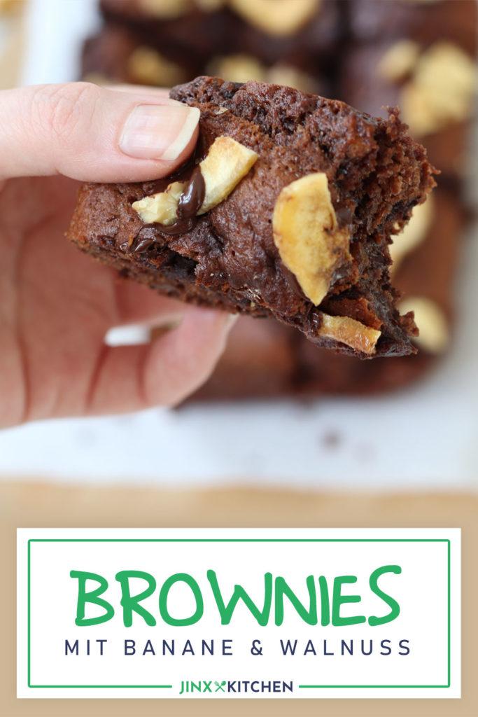 Double-Choc Brownies mit Banane und Walnuss Pinterest