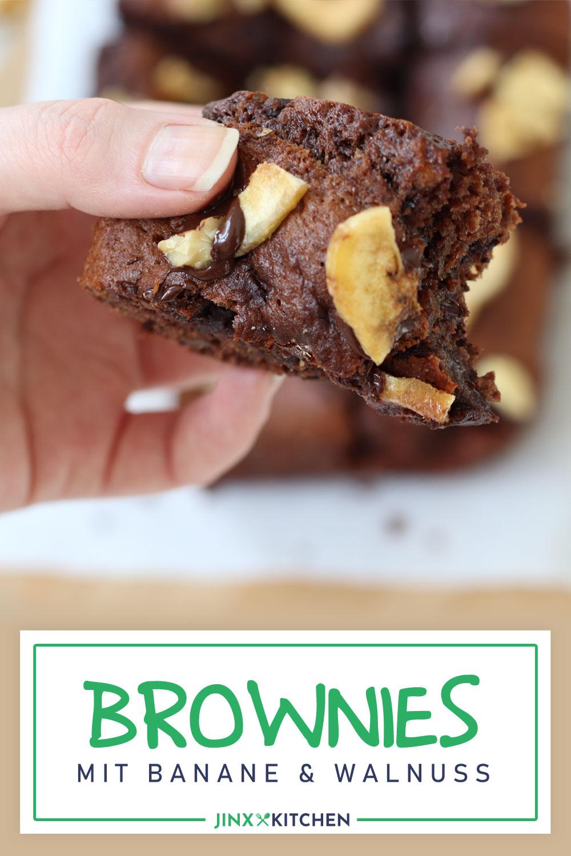 Double-Choc Bananen-Walnuss-Brownies Pinterest
