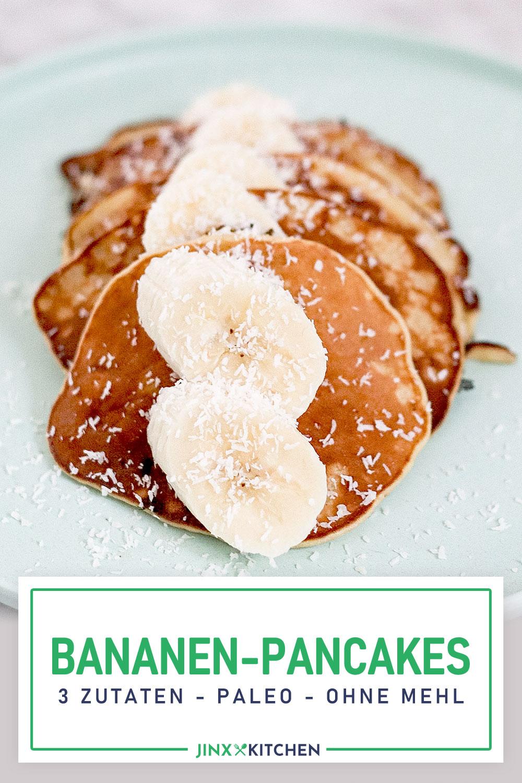 Pinterest Pin it Bananen Pancakes 3 Zutaten Paleo ohne Mehl