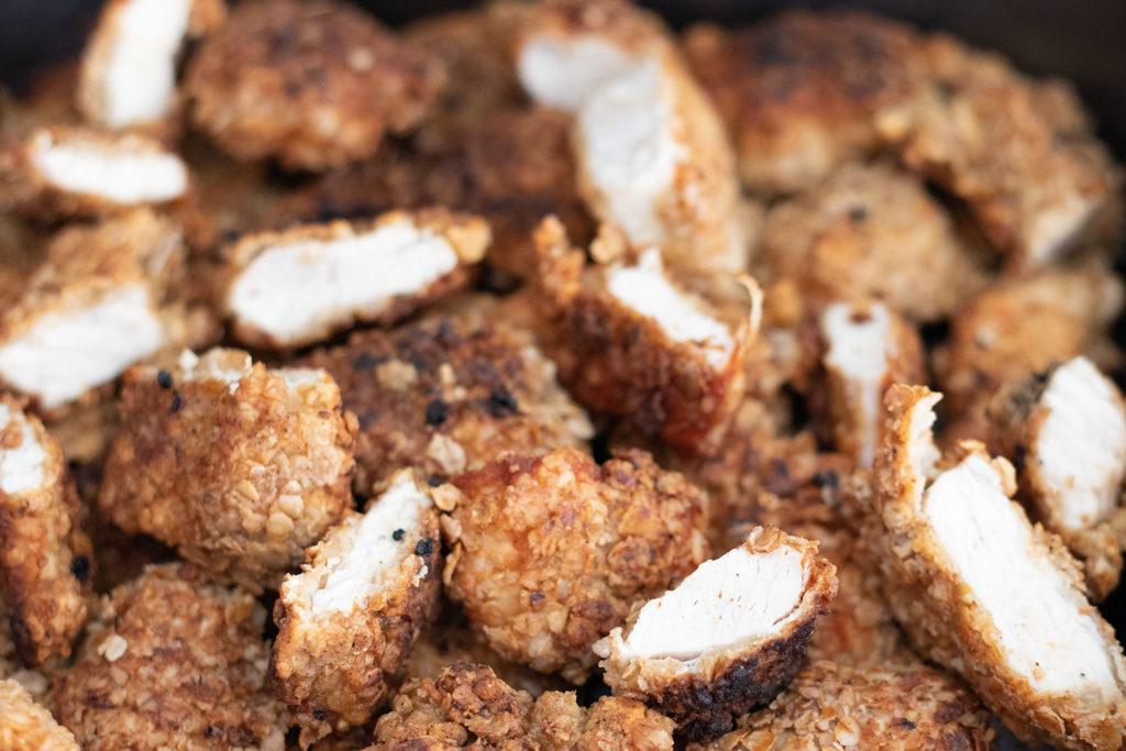 Nahaufnahme Selbstgemachte Chicken Nuggets