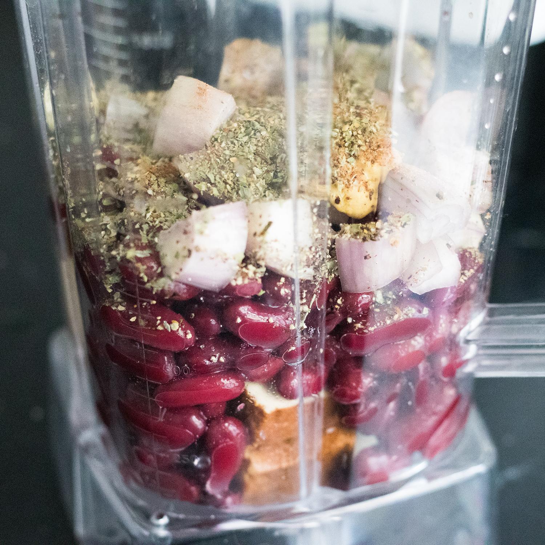 Vegane Leberwurst Rezept Zutaten im Mixer