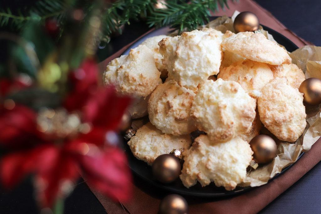 Kokosmakronen Weihnachten Kekse backen