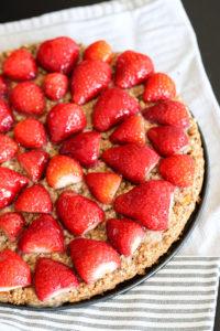 Erdbeer-Kuchen Haferflocken Apfel