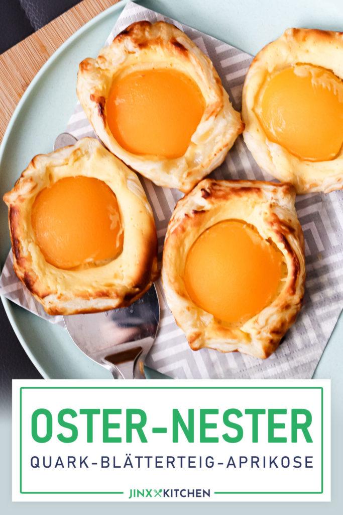 Pinterest Aprikose Spiegeleier Nester Ostern