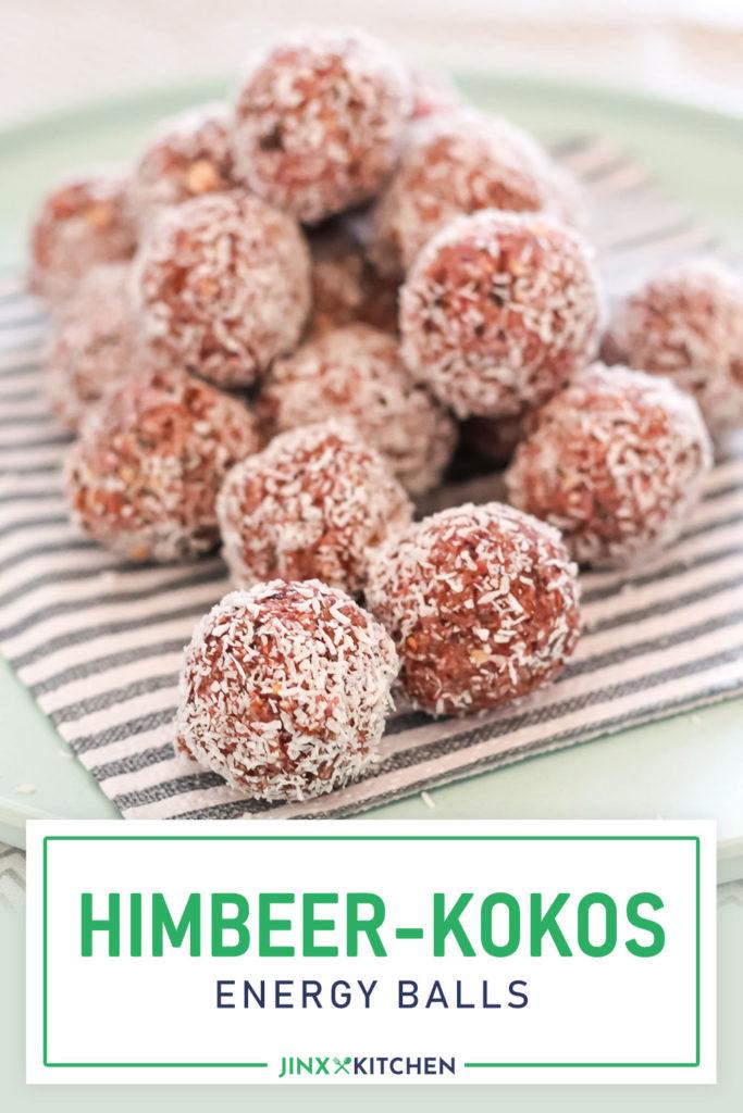 Pinterest Himbeer-Kokos Energy Balls