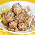 Erdnuss-Kokos-Bällchen