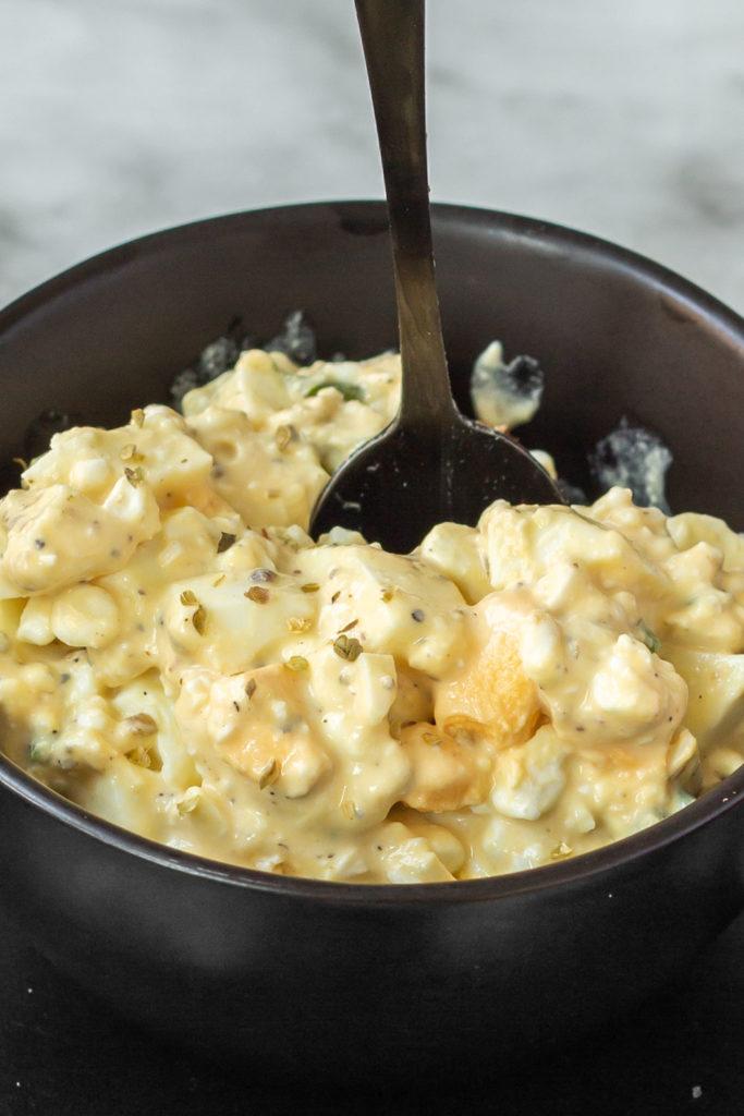 Eiersalat mit Körnigen Frischkäse ohne Mayonnaise